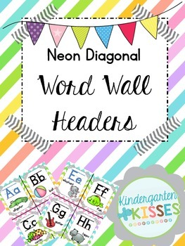 Neon Stripe Word Wall Headers