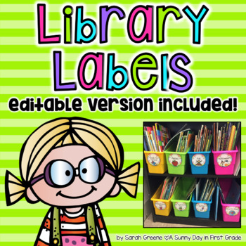 Neon Striped Library Labels (with editable version!)