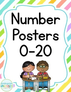 Neon Stripes Number Posters