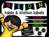 Neon Table Signs / Station Signs