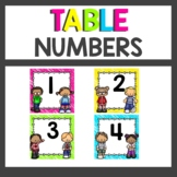 Neon Table Numbers