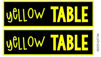 Neon Table Signs