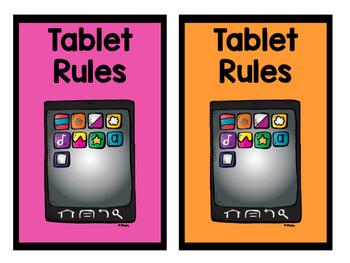 Neon Tablet/ iPad Rules