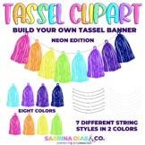 Neon Tassel Clipart {Build Your Own Tassel Banner}