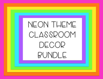 Neon Theme-Classroom Decor Bundle (Growing)