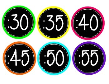 Neon Theme Clock Labels