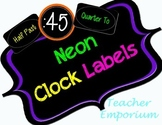 Neon Theme Clock Labels