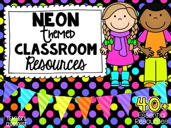 Neon/Bright Kids Theme Decor Pack
