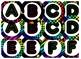 Neon Themed 4 inch Circular Bulletin Board Letters
