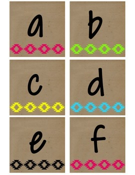 Neon Tribal Alphabet Package