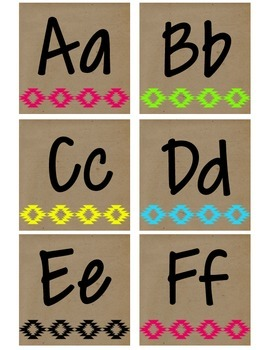 Neon Tribal Alphabet Package
