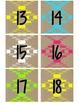 Neon Tribal Calendar Numbers - Large
