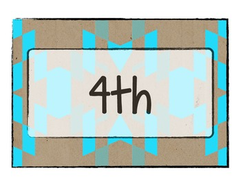 Neon Tribal Class Period Labels