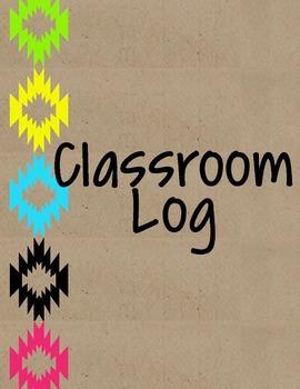 Neon Tribal Classroom Log