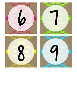 Neon Tribal Sudoku Numbers