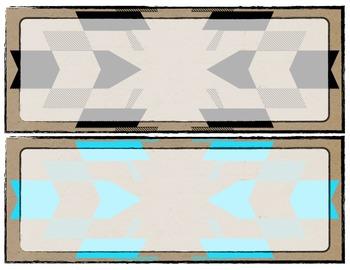 Neon Tribal Word Wall Blank Template