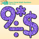 Neon Violet Math Numbers Clip Art {Great for Classroom Decor & Resources}
