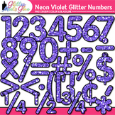 Neon Violet Math Numbers Clip Art {Glitter Meets Glue}