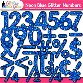 Neon Blue Math Numbers Clip Art {Great for Classroom Decor