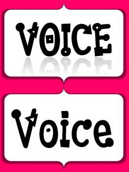 Neon Voices Classroom Poster Set with Editable Pages