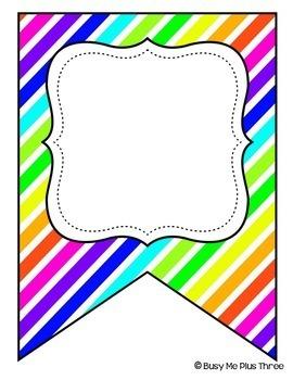 Neon & White {Editable Banner}