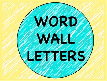 Neon Word Wall Letters