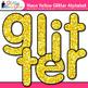 Neon Yellow Alphabet Clip Art | Glitter Letters Classroom Decor & Resources