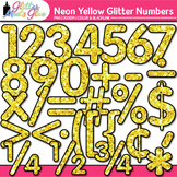 Neon Yellow Math Numbers Clip Art {Great for Classroom Dec
