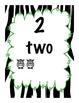 Neon Zebra Jungle Calendar Numbers 9 DIFFERENT styles, # 1-31, Back to School