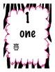 Neon Zebra Jungle Calendar Numbers 9 DIFFERENT styles, # 1