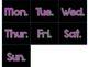 Neon and Black Calendar Set