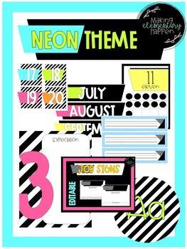Neon and Black Classroom Theme