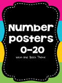 Neon and Black Number Posters