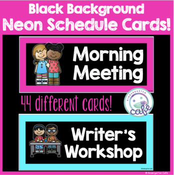 Neon and Black Schedule Cards!