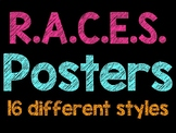 Neon and Bright Colored R.A.C.E.S. Posters - Answering Constructed Responses