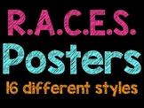 Neon and Bright Colored R.A.C.E.S. Posters - Answering Con