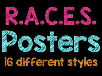 Neon and Bright Colored R.A.C.E. Posters