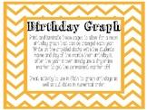 Neon and Chalkboard Birthday Graph