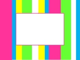 Neon candy stripe editable labels