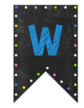 Neon chalkboard welcome banner- printable