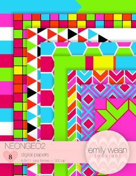 NeonGeo2 Digital Papers