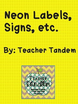 Neons for Your Classroom (Set 1)