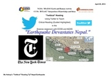 Nepal Earthquake - Critical Reading/Guided Highlighted NGS