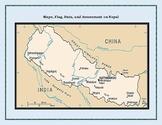 Nepal Geography Maps, Flag, Data, Assessment - Map Skills Data Analysis