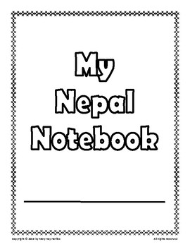 Nepal:  Worksheets, Maps, and Journaling Pages