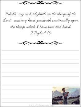Nephi's Psalm - Cursive