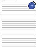 Neptune Planet Lined Paper