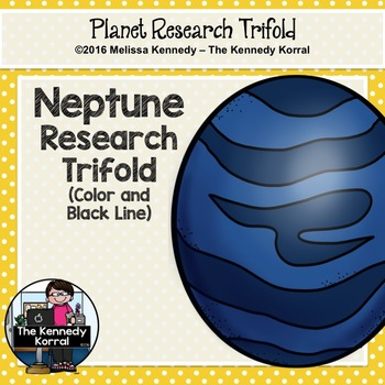 Neptune Research Trifold {Space Research, Planets, Solar System}