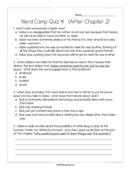 Nerd Camp Power Pack:  16 Writing Prompts and 16 Quizzes