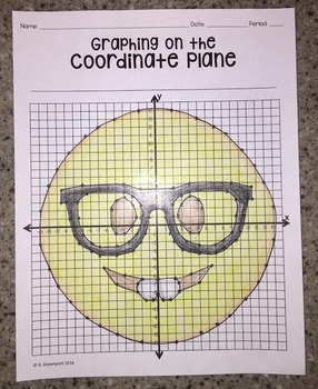 Nerd Face EMOJI (Graphing on the Coordinate Plane/ Mystery Picture)